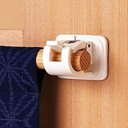 Curtain Rod Holders Adhesive Wall Clip