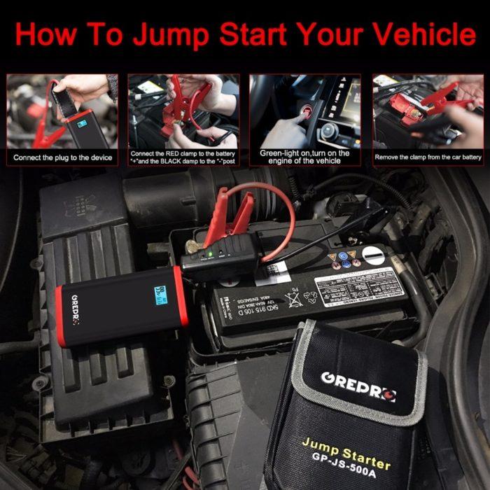 Portable Battery Jumper Car Jump Starter