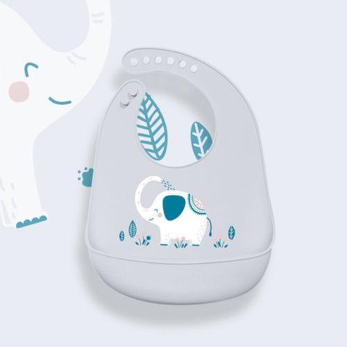 Bib Silicone Feeding Baby Cover