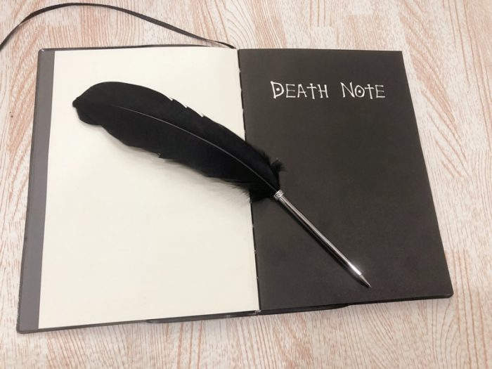 Anime Death Note Notebook Quill-pen Feather Pen Journal Diary Stationery Gift