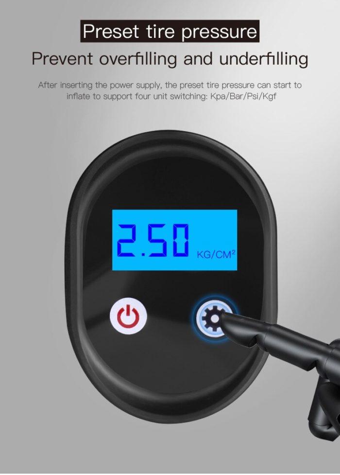 Car Air Compressor LCD Display