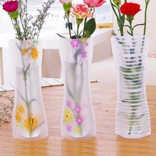Flower Vases Foldable Plastic Vase