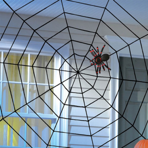 Halloween Spider Web Home Decor