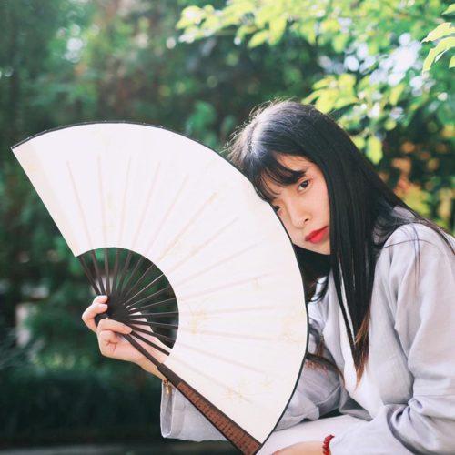 Chinese Fan Blank Silk Cloth