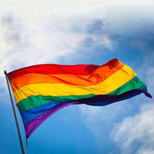 Rainbow Flag Polyester Cloth