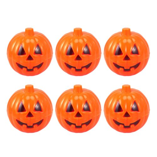 Plastic Pumpkins Mini Container (6 pieces)