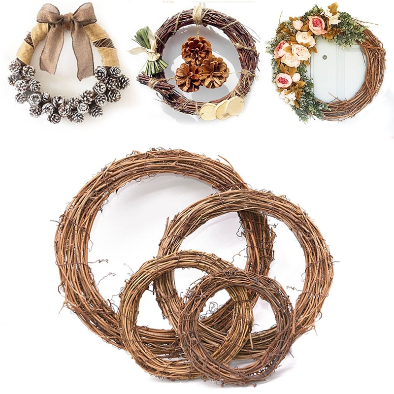 Diy Christmas Wreath Rattan Rustic Life Changing Products