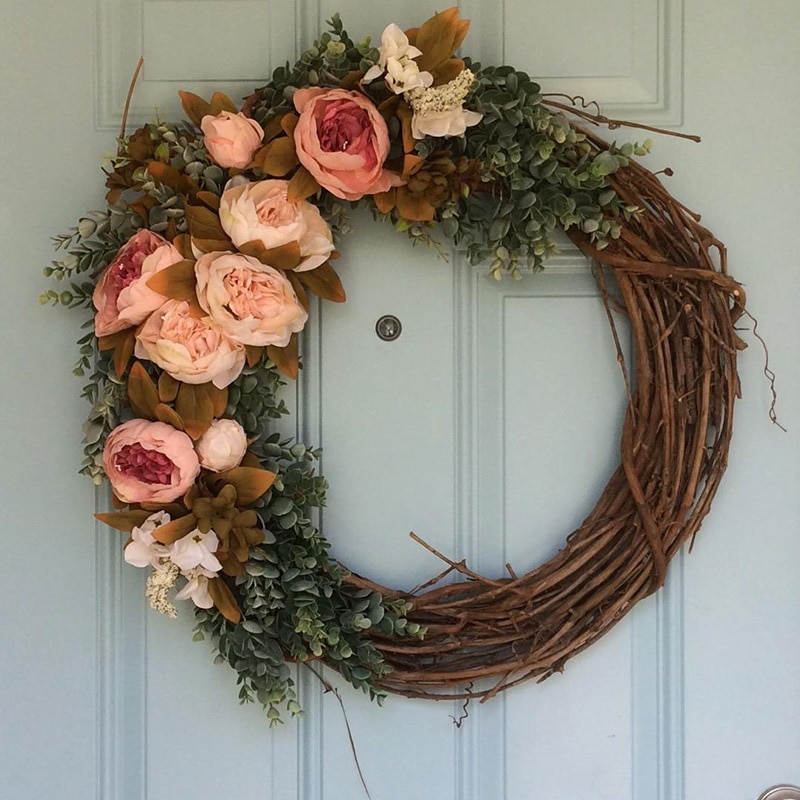 Rustic Christmas Wreath Diy.Diy Christmas Wreath Rattan Rustic
