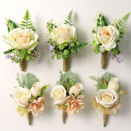 Boutonniere Corsage Wedding Artificial