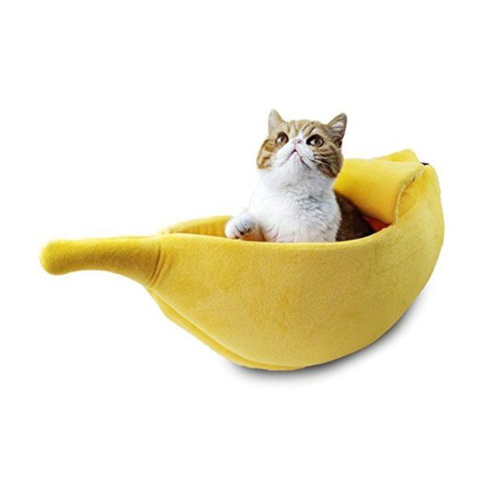 Banana Cat Bed Cozy Pet Cushion