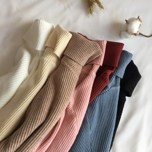Turtleneck Women Slim Warm Sweater