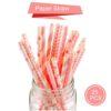 Paper straw 25pcs