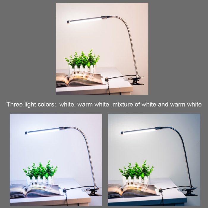 Clip On Desk Lamp USB LED Light