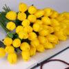 Plastic Flowers Artificial Tulip Decor