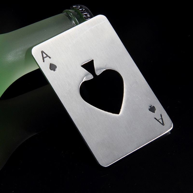 Cool Bottle Opener Poker Card Design Life Changing Products