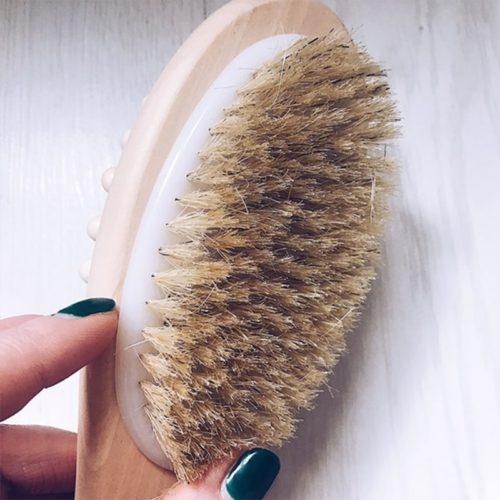Back Brush Two Bristle Type Bath Brush
