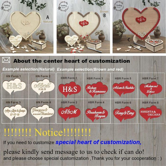 Rustic Wedding Decoration Wish Bank