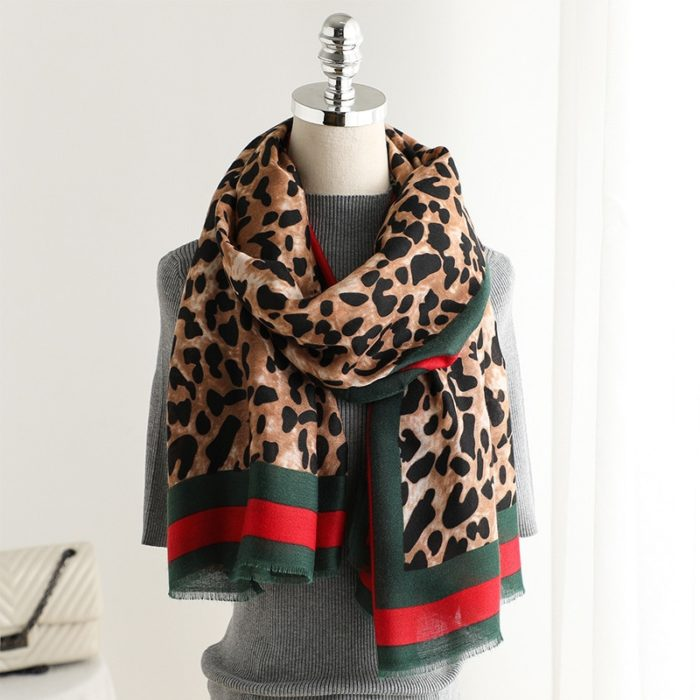 Leopard Print Scarf For Women