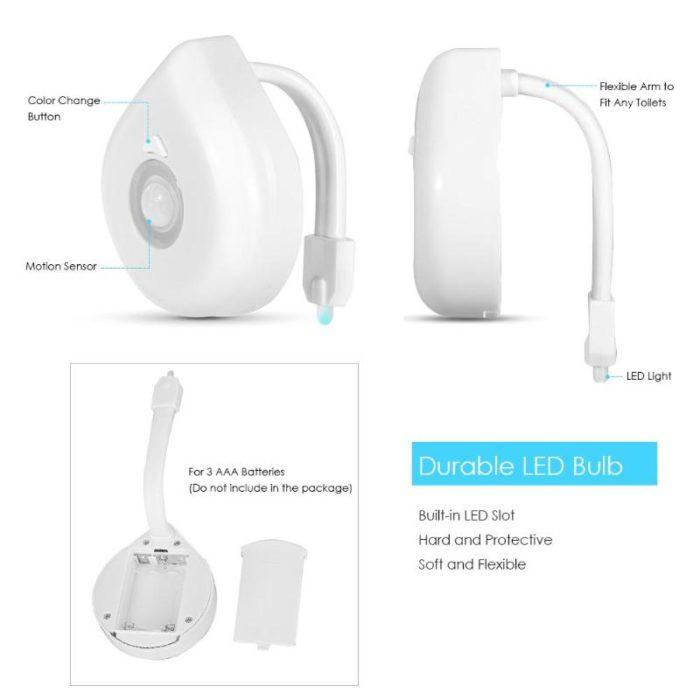Lighted Toilet Seat Motion Sensor