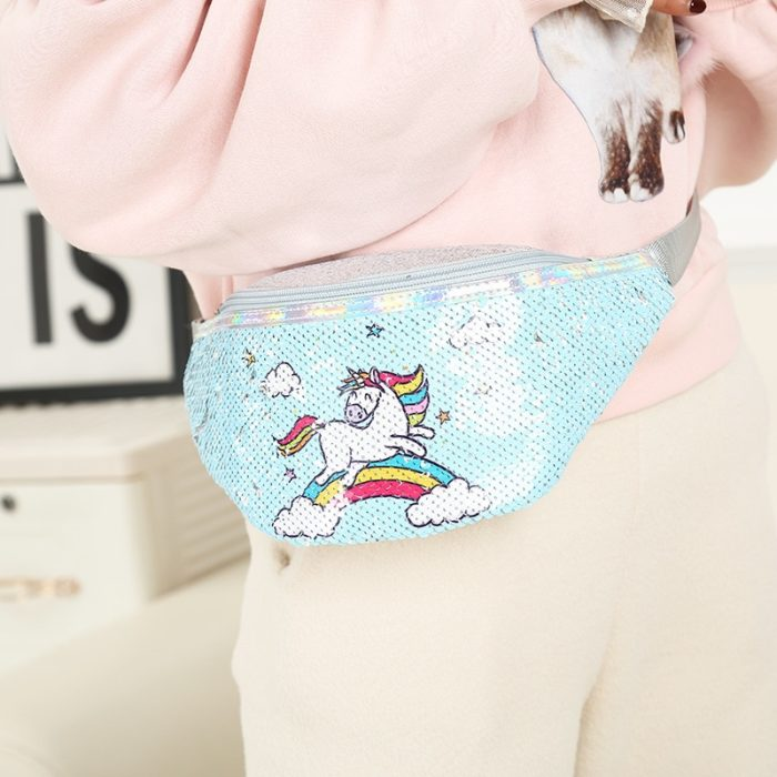 Bum Bag Ladies Unicorn Sequins