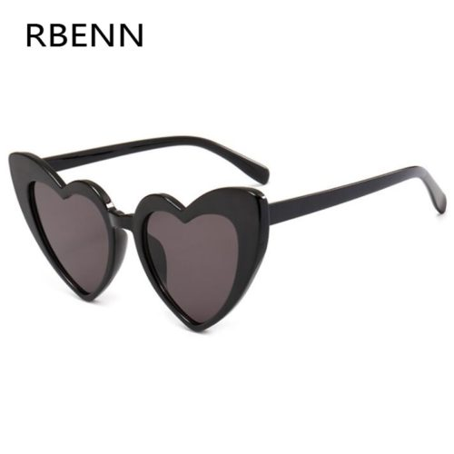 Heart Shaped Sunglasses Retro Design