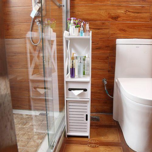 Corner Bathroom Cabinet Storage Organizer