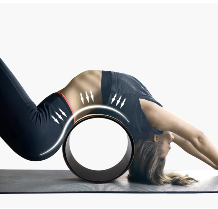 Yoga Wheel Wooden Fitness Accessory
