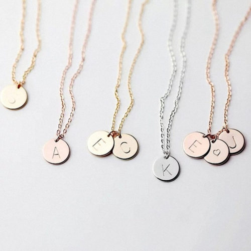 Letter Necklace Women Initial Pendant