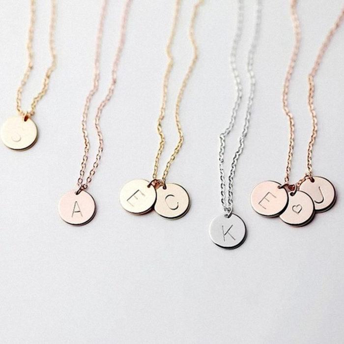 Letter Necklace Women Initial Pendant