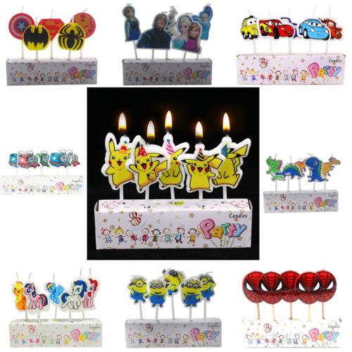 Cake Candles Cartoon Design 5pcs/set