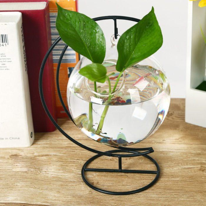 Fish Bowl Vase Hanging Glass