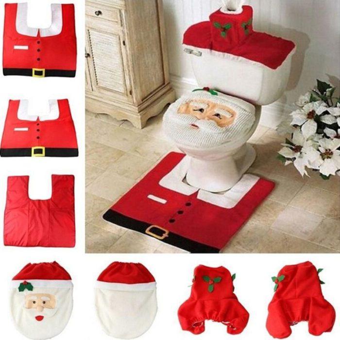 Christmas Bathroom Decor Toilet