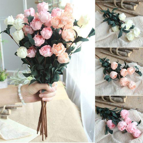 Artificial Roses Decoration 6 Heads/Bouquet