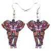 Elephant Earrings Fashion Accessory