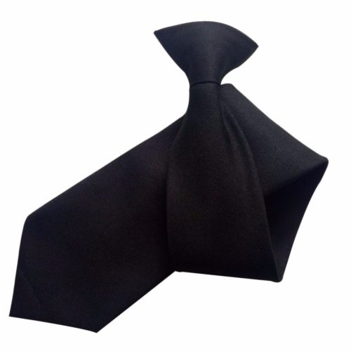 Clip On Tie Plain Necktie