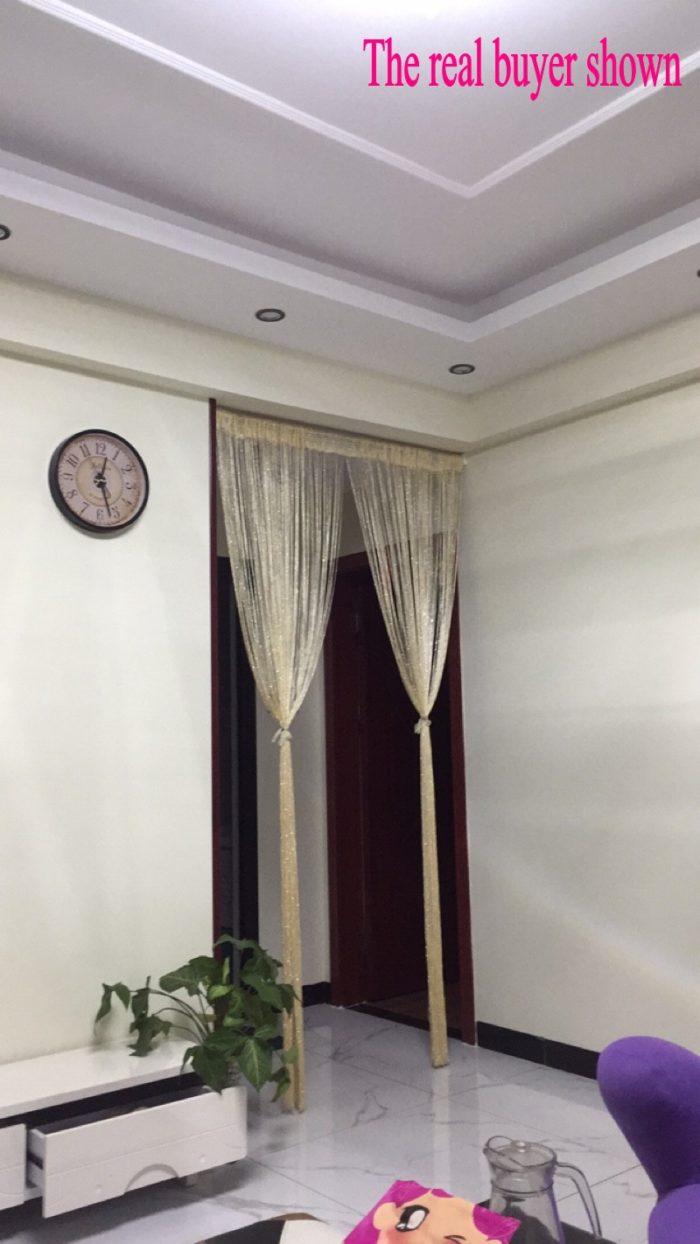 Beaded Door Curtains Shiny Tassel Drape