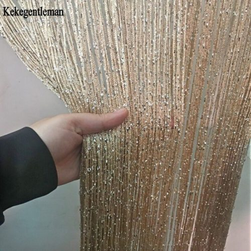 Beaded Door Curtains Shiny Tassel Drape