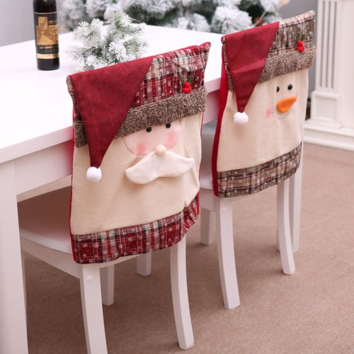 Christmas Chair Cover Home Decor