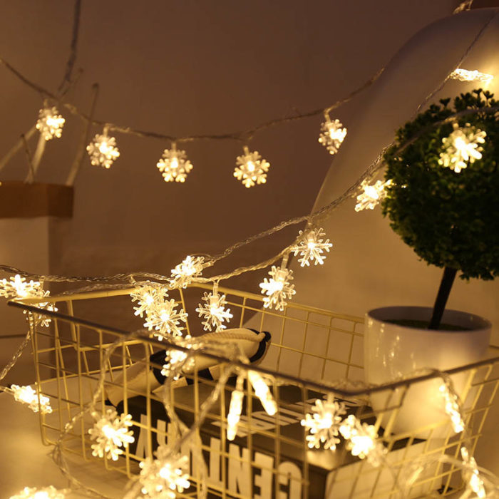 Snowflake Lights Hanging Fairy Lights
