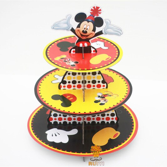 Cardboard Cupcake Stand Mickey Mouse Design