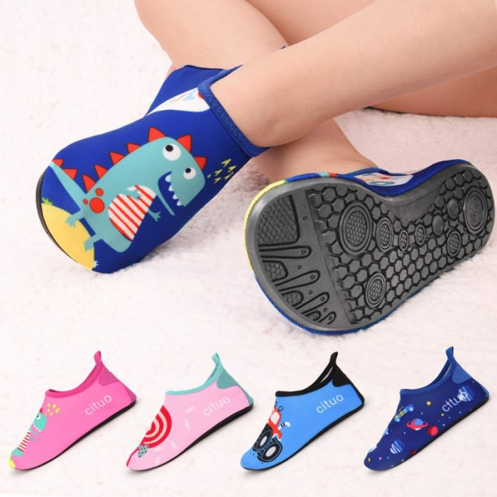 Kids Aqua Shoes Cartoon Design
