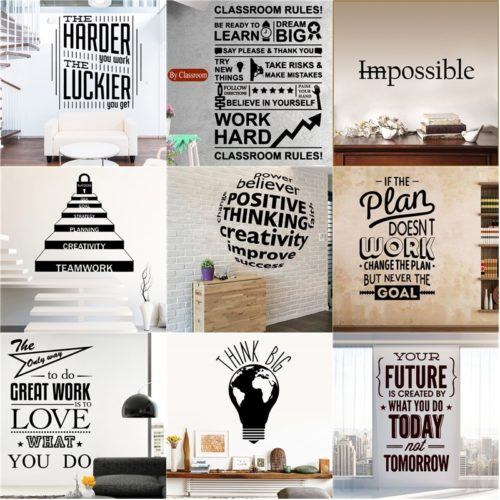 Quote Sticker Motivational Wall Decor