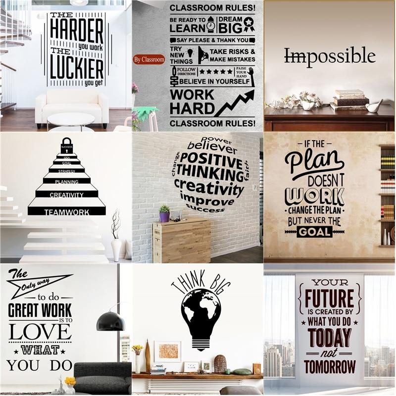Quote Sticker Motivational Wall Decor