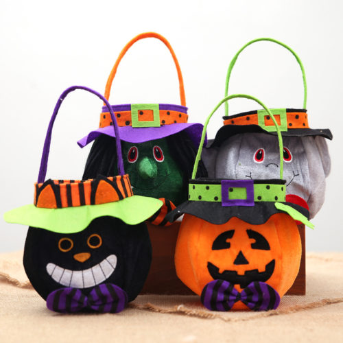 Halloween Basket Candy Tote Bag