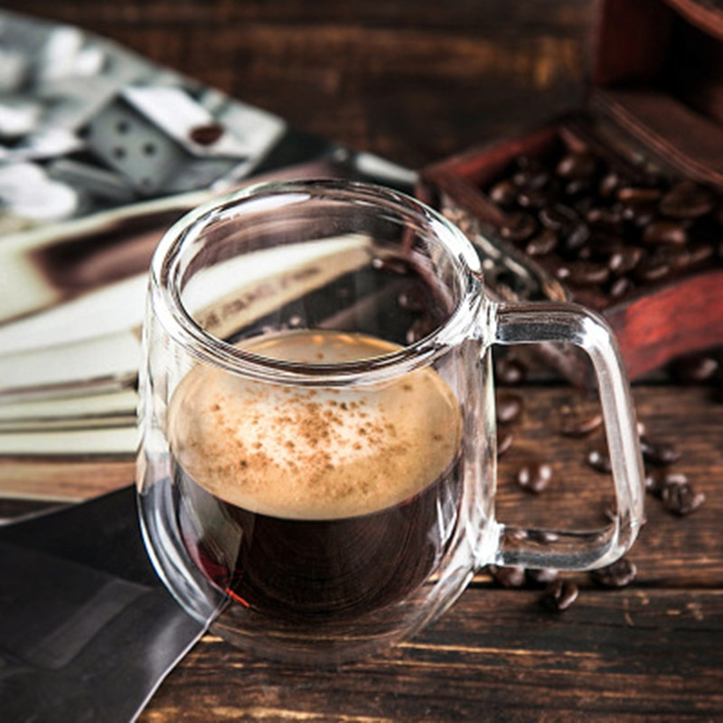 Coffee Cup Double Wall Glass