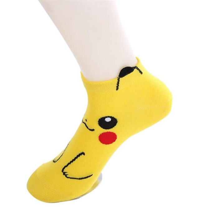 Pokemon Socks Anime Yellow Ankle Socks