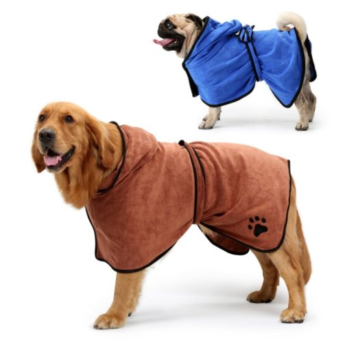 Dog Bathrobe Pet Microfiber Bath Towel