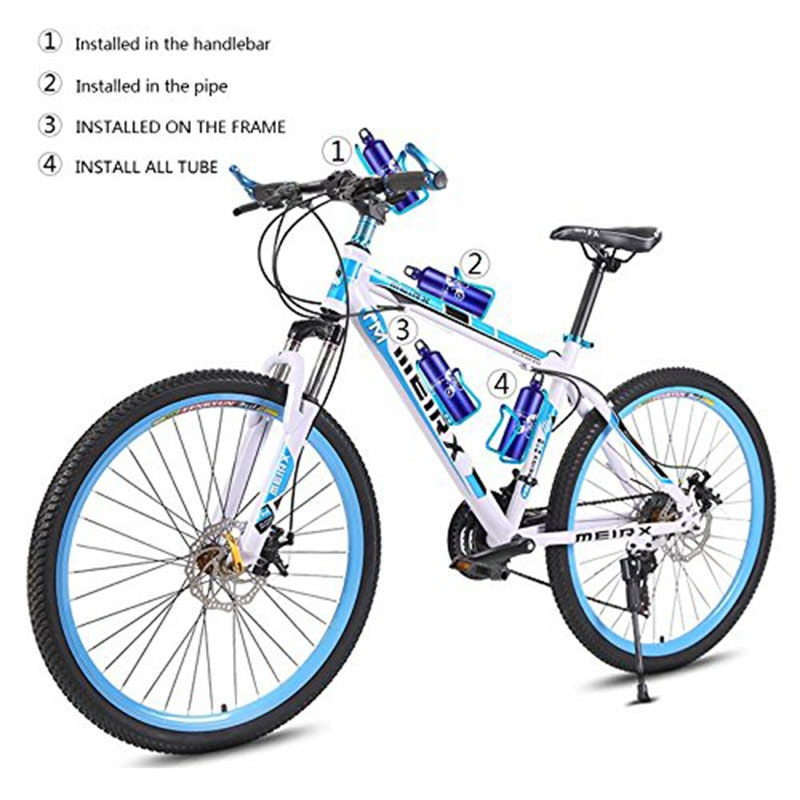 Fashion Life Bicycle Clip Bottle Cage Adjustable MTB Road Bike Convenient Mounted Water Bottle Holder Bicycle Accessories Aluminum Alloy
