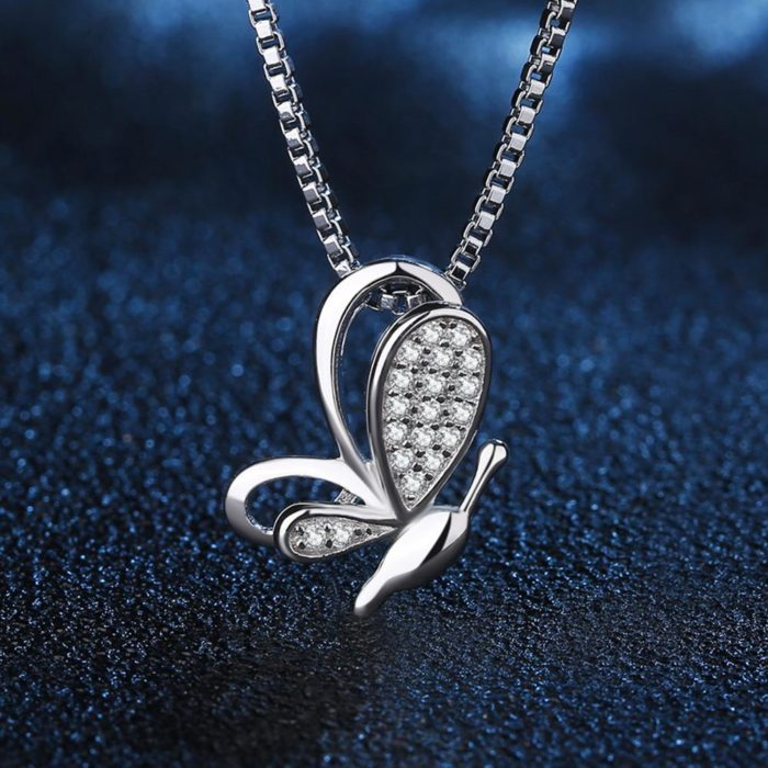 Butterfly Pendant Ladies Silver Jewelry