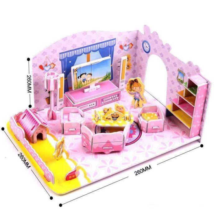 Mini Dollhouse DIY Paper Construction